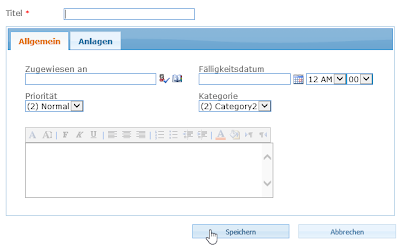 SharePoint German form