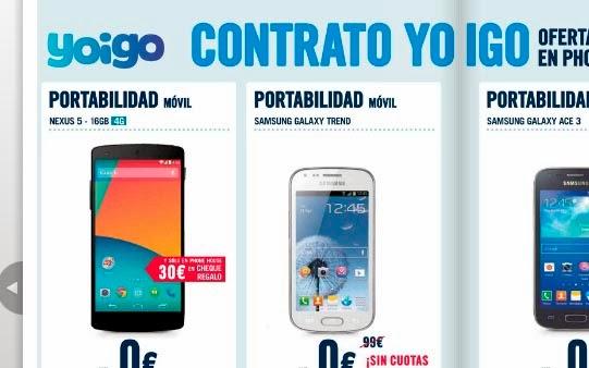 Ofertas Yoigo en Phone House: febrero 2014