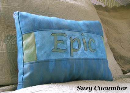 Glue Batik Calligraphy Pillow