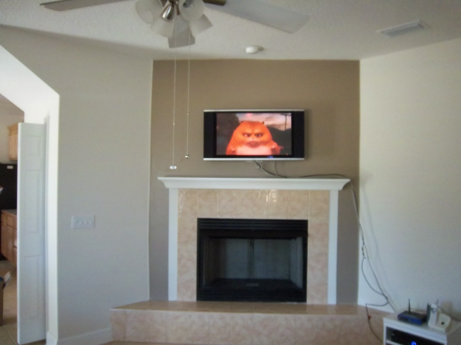 Lipstick and a brad nailer are the only essentials stacked stone fireplace wall completed - Fireplace wall ...