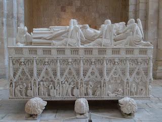 Sarcophagus in Alcobaca monastery