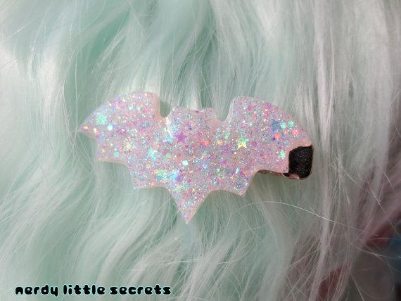glittery bat hair clip from nerdy little secrets