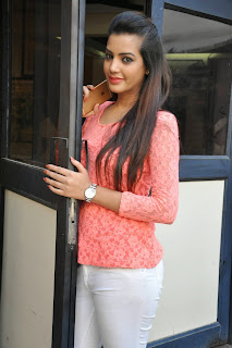 Actress Diksha Panth Latest Pictures in Jeans at Kavvintha Movie Press Meet  1.JPG