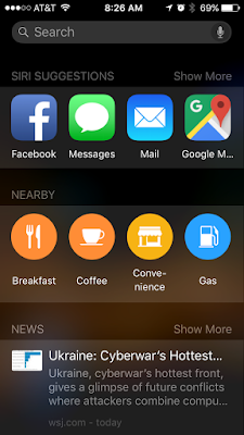 Prospective Search - iOS9 - One Cool Tip - www.onecooltip.com