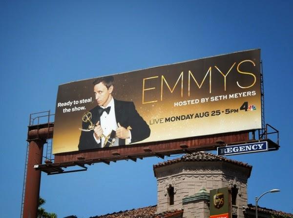 2014 Emmys Seth Meyers billboard