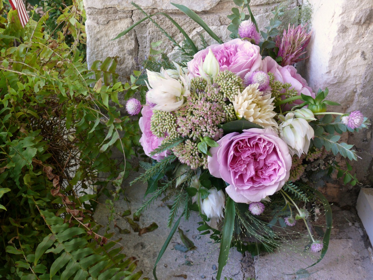 La fleur vintage woodland garden rose bridal bouquet - Garden rose bouquet ...