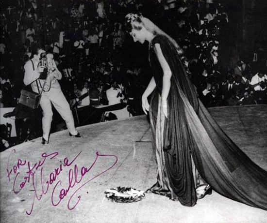 Maria Callas performing as Norma in Epidaurus, 1960