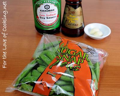 Soy Sesame Sugar Snap Peas