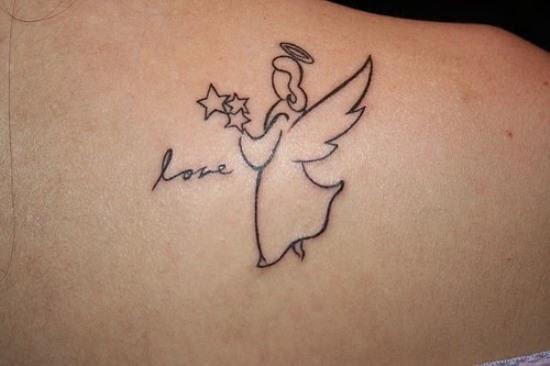 Love Angel Tattoo