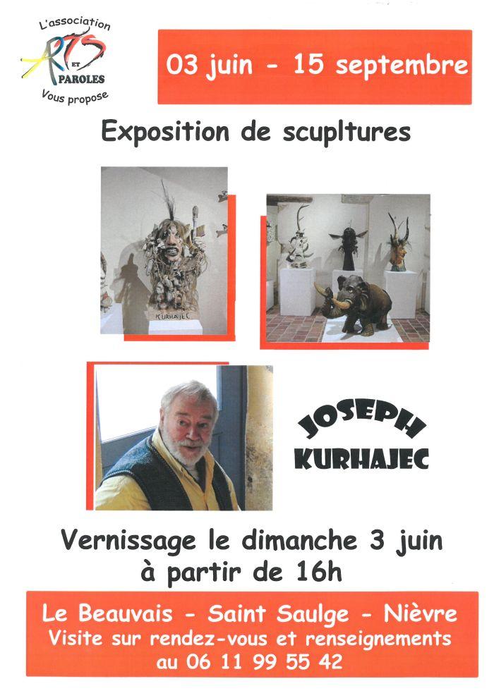Exposition de sculptures du 03 juin au 15 septembre à Le Beauvais - Saint - Saulge - Nièvre