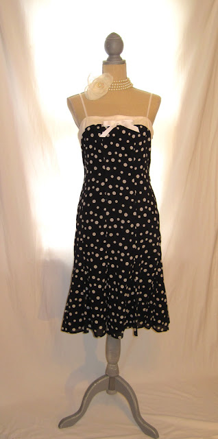 Polka Dot Vintage Inspired Women's Strap Dress