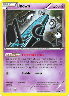 Unown Ancient Origins Pokemon Card