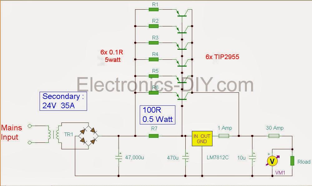 High Voltage Regulator : Making a high current v voltage regulator