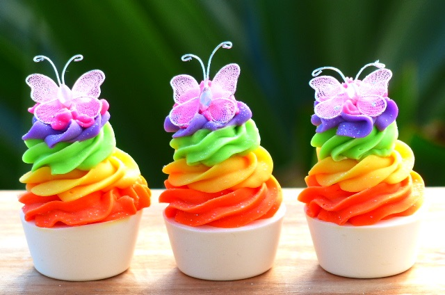 Rainbow Bright Cupcakes Recipe — Dishmaps