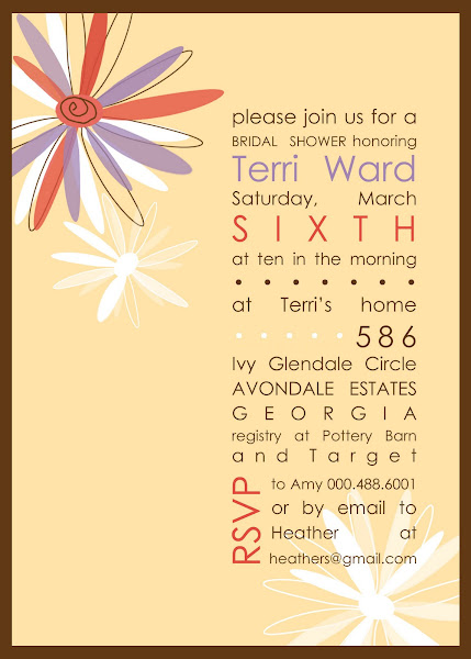 Buttercup Daisies Bridal Shower Invitation