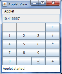 calculator program using java