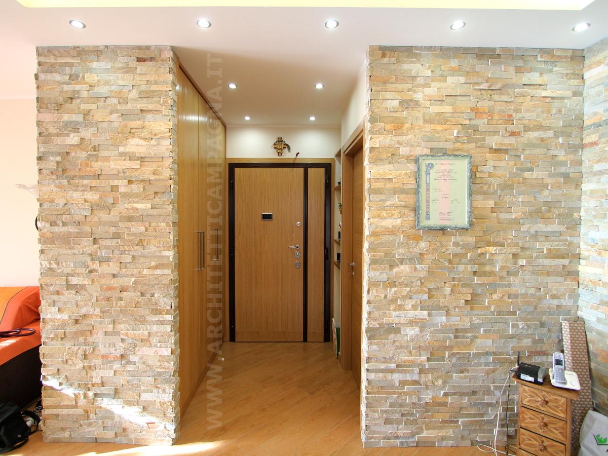Rivestire un pilastro vero vetro mosaico piastrelle for Casa in stile scandole