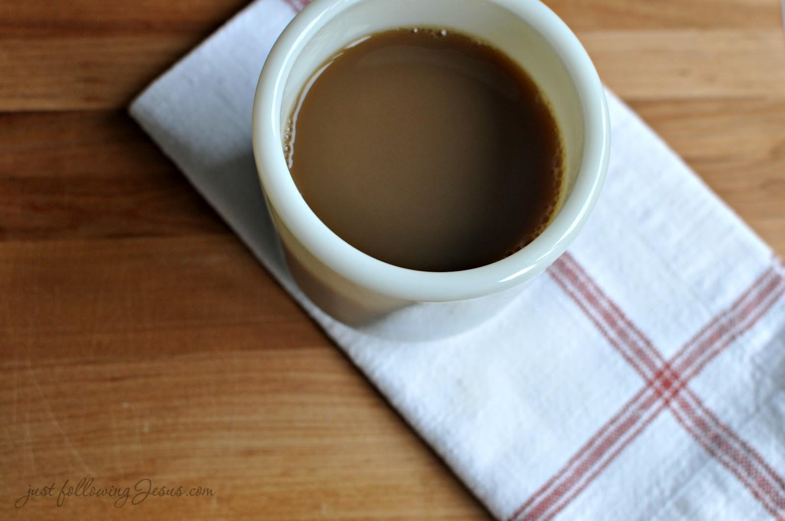 Just following jesus in my real life corning wwii handleless mugs - Handleless coffee mugs ...
