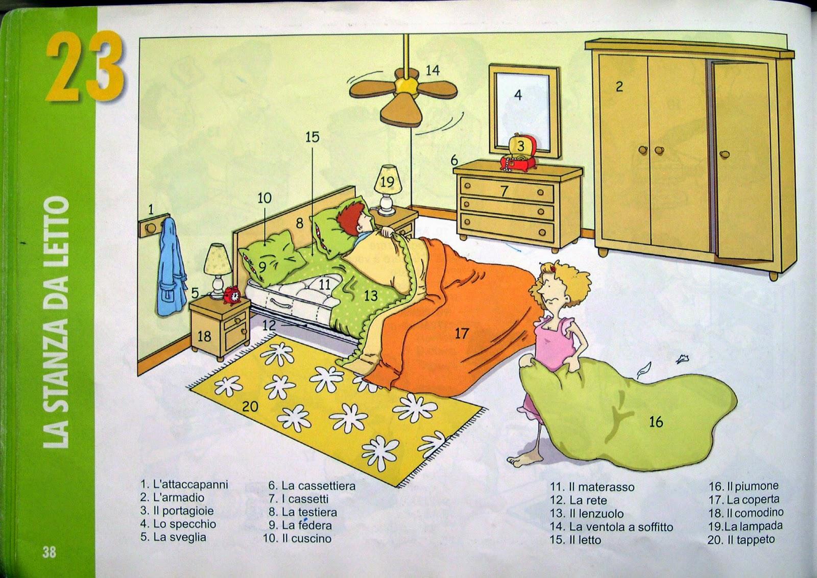 Уроки итальянского, спальня