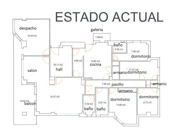 Tengounprimoarquitecto el super piso for Plano de una cocina profesional
