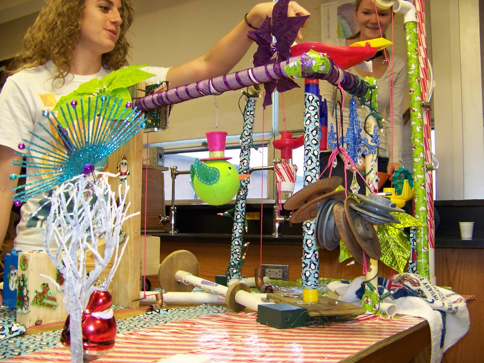 the rube goldberg project Event description: teams of two or three people will design and build a rube goldberg-style machine that uses different types of energy to accomplish a single task.