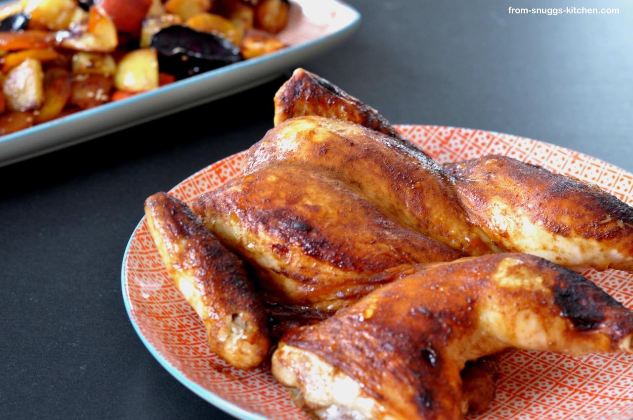Asia-Hähnchen mit Ofen-Gemüse