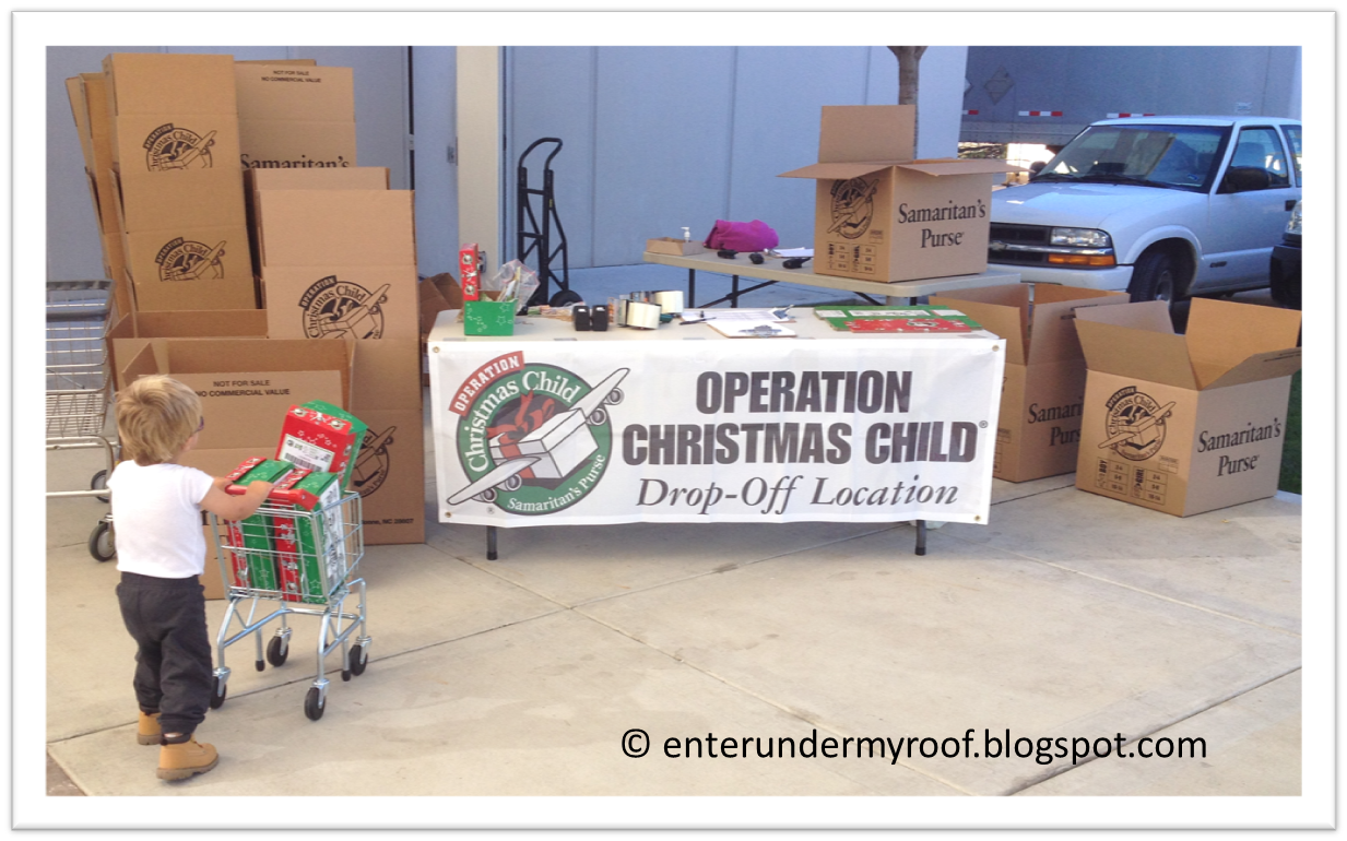 Operation Christmas Child: Boxes are Dropped Off! – Faith and Fabric