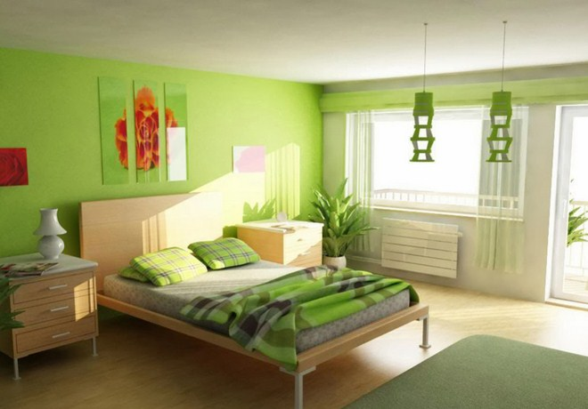 green bedroom decorating ideas for minimalist home - Green Bedroom Decorating Ideas