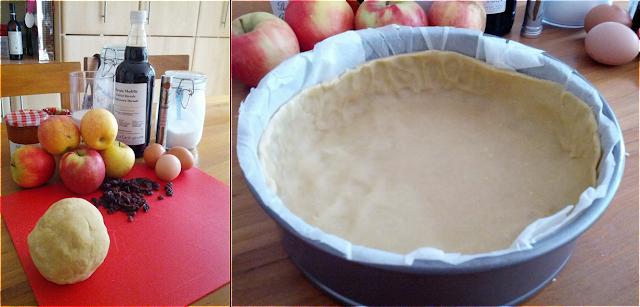 apple tart ingredients, shortcrust pastry