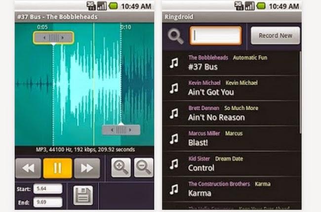 تطبيق Ringdroid يمكنك تحويل أي أغنية لنغمة رنين لهواتف الأندرويد