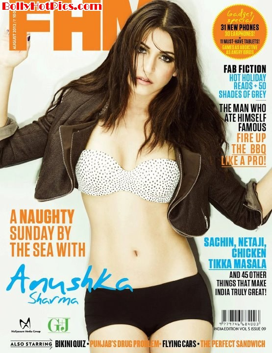 ANUSHKA SHARMA Naughty on FHM India August 2012 issue