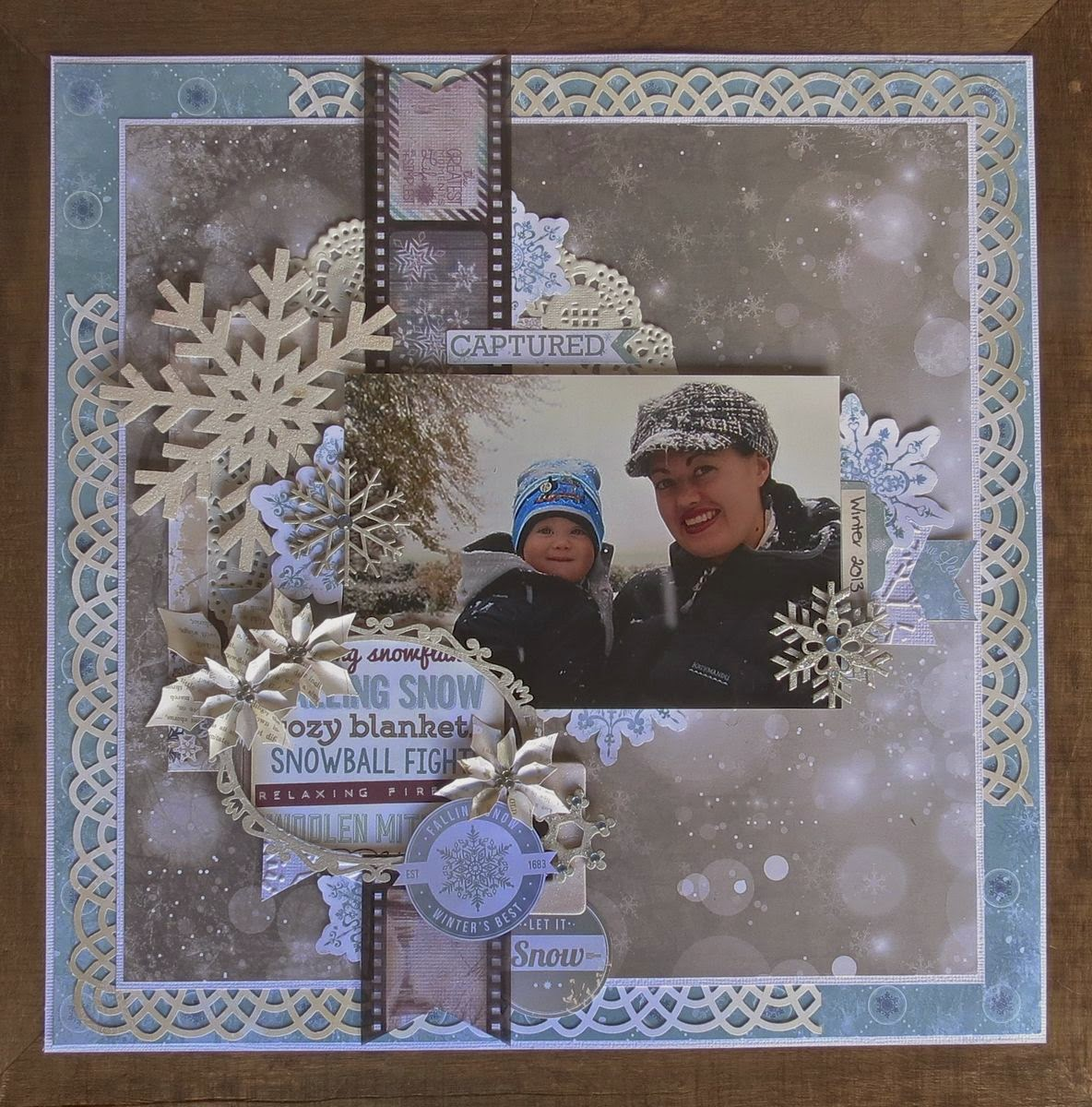 Winter 2013 Scrapbook Page by Megan Gourlay using BoBunny Altitude and Leaky Shed