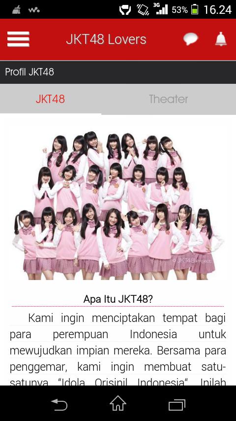 Aplikasi Wajib Buat Para Fans JKT48 di Android