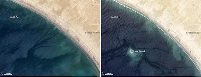 Terremoto crea una nueva isla en Pakistán