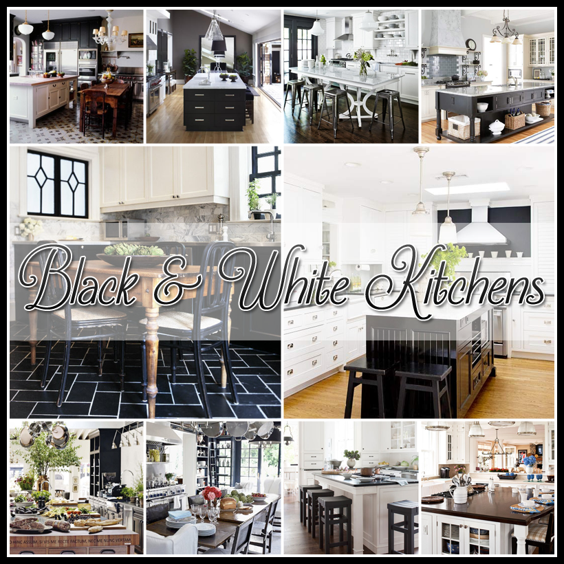 Cottage Kitchen Flooring Continued: 25 Beautiful Black And White Kitchens