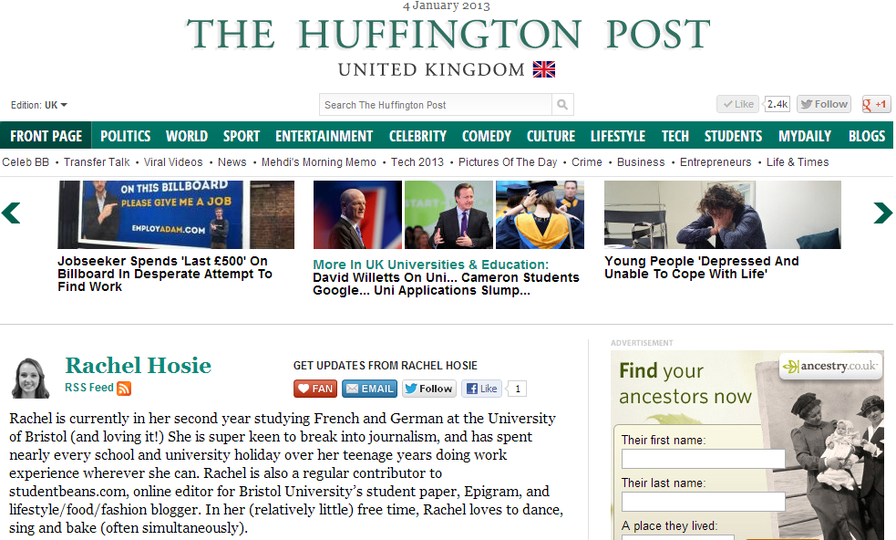 write for huffington post I was surfing the web one day, trying to figure out how to get a wider audience for my writing when i stumbled across the huffpo contributor platform during one of its open registration periods i was able to create an author page and start posting content voila i am a huffington post contributor yay me.
