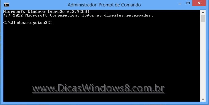 prompt de comando windows 8