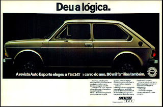 propaganda Fiat 147 - 1978. reclame de carros anos 70. brazilian advertising cars in the 70. os anos 70. história da década de 70; Brazil in the 70s; propaganda carros anos 70; Oswaldo Hernandez;