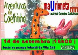 AVENTURAS DO COELHINHO - MAURIONETA NO BARREIRO
