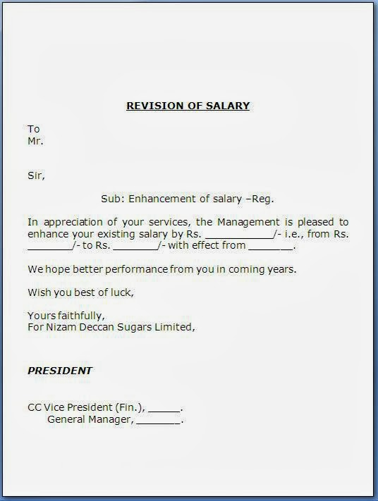 Salary increase template altavistaventures Gallery