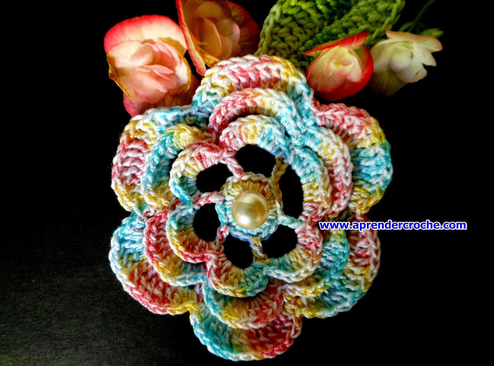aprender croche flores folhas dvd loja curso de croche frete gratis edinir-croche