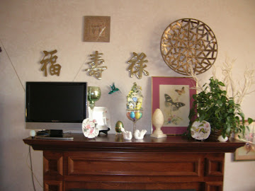 2012 My First Ever Spring Mantel!
