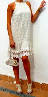 vestido blanco retro