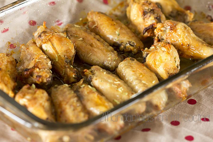 Alitas de pollo al orégano asadas