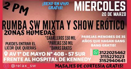 MIÉRCOLES 20 MARZO DE 2 PM A 9 PM GANG BANG CON HERMOSAS CHICAS SW