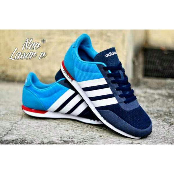 Sepatu Adidas NEO V Racer Navy Blue