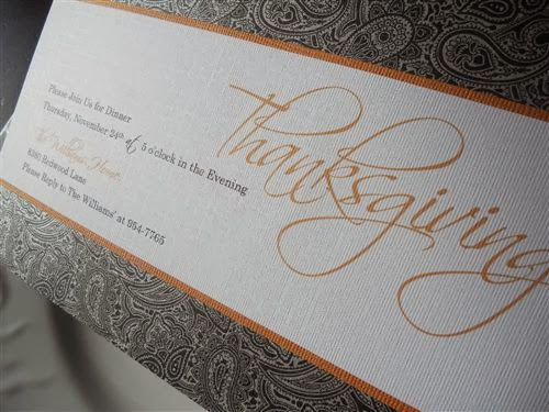 Best Homemade Thanksgiving Feast Invitations