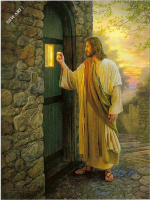 Jesus knocking at a door