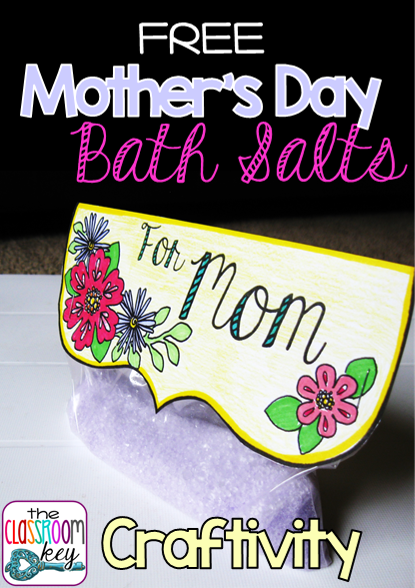 Mother's Day bath salts craftivity