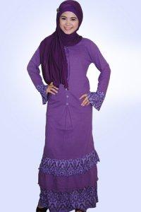 Idmonia Gamis 13 - Ungu Tua (Toko Jilbab dan Busana Muslimah Terbaru)